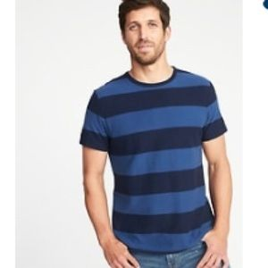 NWT Blue and Navy Striped Heavyweight Terry cloth